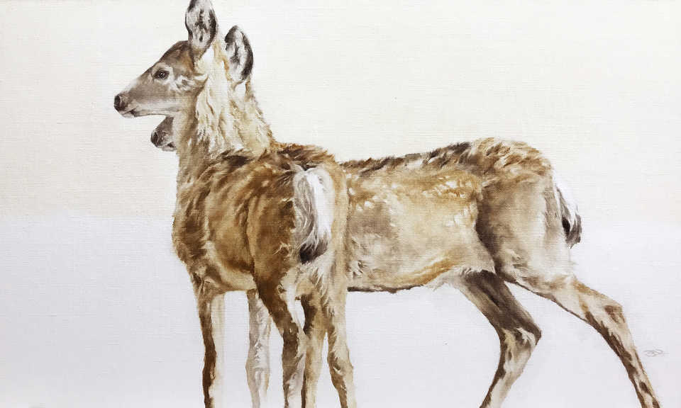 Jackson, Wy Oil Painter September Vhay - DEER RUN SIENNA