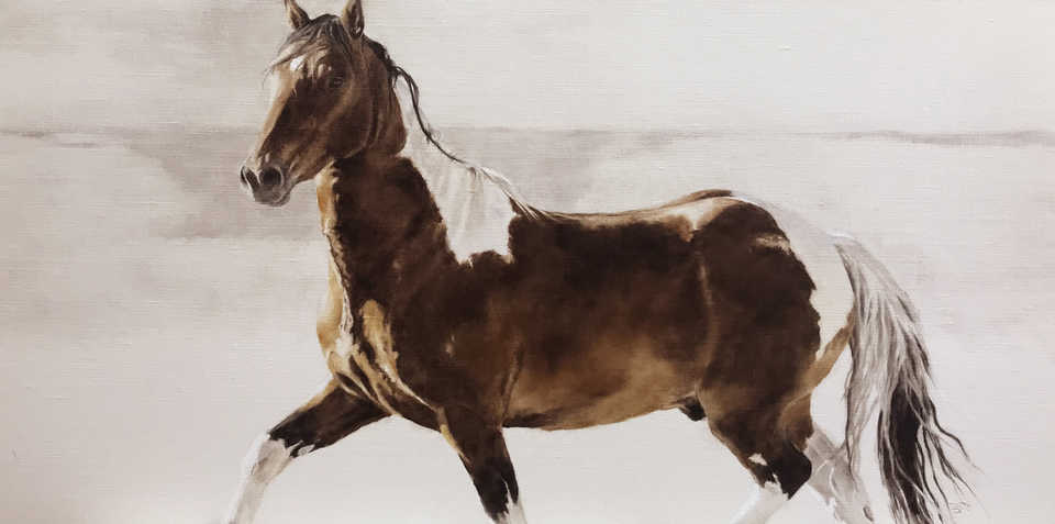 Jackson, Wy Oil Painter September Vhay - DEER RUN TOBIANO BREEZE
