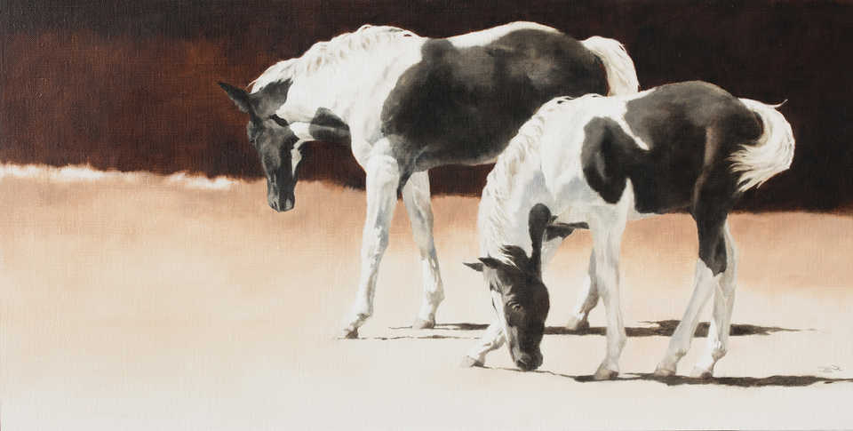 Jackson, Wy Oil Painter September Vhay - EBONY AND IVORY
