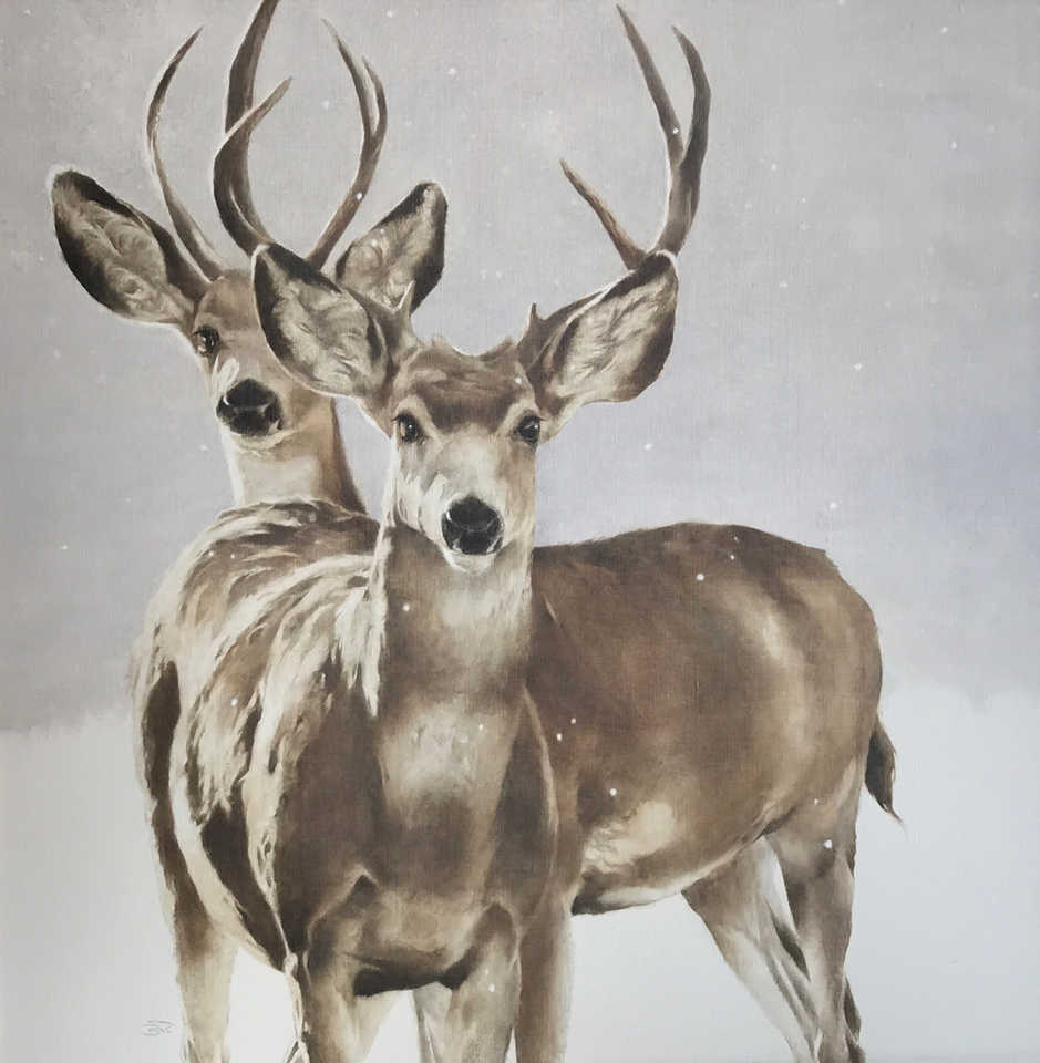 Jackson, Wy Oil Painter September Vhay - DEER RUN MYSTICS